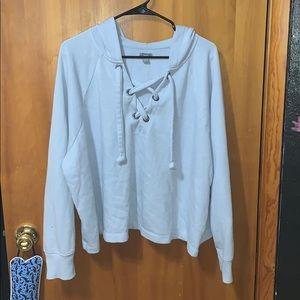 Light blue crop sweater